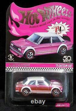 Hot Wheels 71 1971 Datsun 510 RLC 2018 Nationals Convention Pink Party Car 5,000
