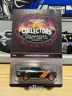 Hot Wheels'71 DATSUN BLUEBIRD 510 WAGON withRR LOS ANGELES Convention 2015