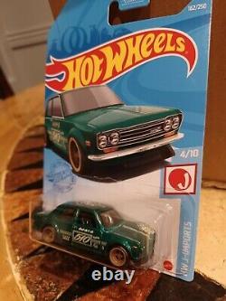 Hot Wheels'71 Datsun 510 Super Treasure Hunt 2021 Mint +Protective Case 162/250