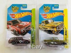Hot Wheels 71 Datsun 510 Wagon and 83 Chevy Silverado Super Treasure Hunt