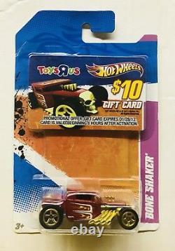Hot Wheels Bone Shaker Boneshaker Toys R Us Tru Exclusive Gift Card Promo T Hunt