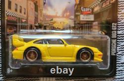 Hot Wheels Boulevard Porsche 911 993 Gt2 Yellow 2013 Real Riders Protector Case