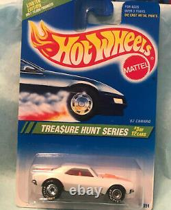 Hot Wheels Camaro 67, 1995 Treasure Hunt 1/10,000. CHROME Rear Wheels Varia