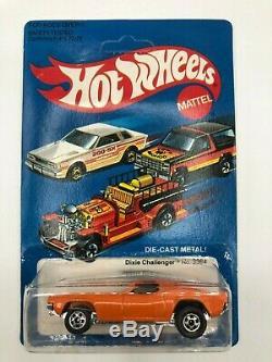 Hot Wheels Dixie Challenger Orange With Flag Unpunched VVHTF Hong Kong 1981