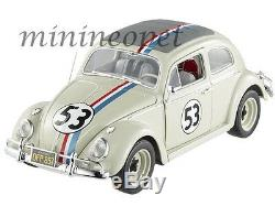 Hot Wheels Elite Bcj94 Herbie The Love Bug 1962 Vw Volkswagen Beetle #53 1/18