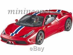 Hot Wheels Elite Bly31 Ferrari 458 Speciale 1/18 Diecast Model Car Red