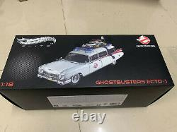 Hot Wheels Elite Ghostbusters Ecto 1 118 DieCast Model New in Original Box