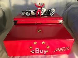 Hot Wheels F1 Michael Schumacher Ferrari Chrome'' 6 Time World Champion'' C7332