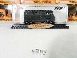 Hot Wheels Fatlace VW Panel Van Bus with rare wooden Surfboard & Sticker Sheet