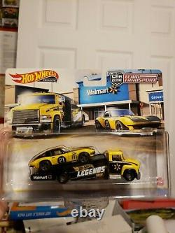Hot Wheels Legends Tour Team Transport Corvette Carry On. Walmart