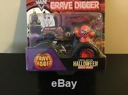 Hot Wheels Monster Jam Truck 1/64 Diecast Metal Halloween Grave Digger Rare Htf