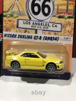 Hot Wheels Nissan Skyline GT-R BNR34 Convention RLC Yellow Blue Purple Lot of 3