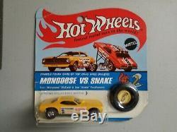 Hot Wheels Orginal redline yellow Snake Don Prudhomme blister pack