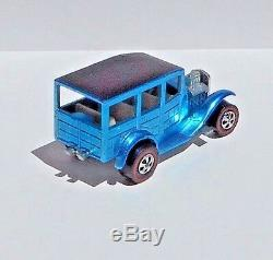 Hot Wheels REDLINE 1969 LIGHT BLUE CLASSIC'31 FORD WOODY NEAR MINT WHITE INT