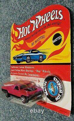 Hot Wheels REDLINE 1970 HOT PINK SEASIDER IN UNPUNCHED BLISTER! RARE! MIB