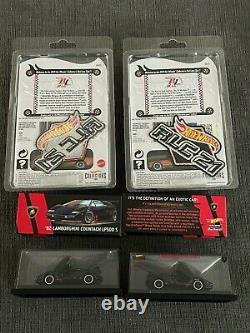 Hot Wheels RLC Bundle (2) Lamborghini Countach LP500 S and (2) Mustang Boss 302