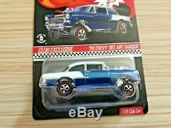 Hot Wheels RLC Exclusive'55 CHEVY BEL-AIR GASSER Blue & White withButton (05389)