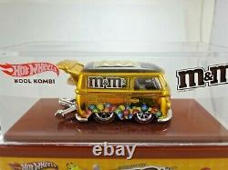 Hot Wheels RLC Gold M&M's Kool Kombi, Real Riders, #3,622/4,000, Mint in Case