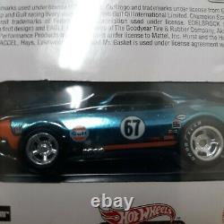 Hot Wheels RLC Gulf 67 Camaro, Mint on Card. 1 of a kind DIFFERENT FRONT WHEEL