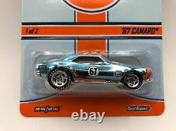Hot Wheels RLC Gulf `67 Camaro withReal Riders #3370/4500 Protector