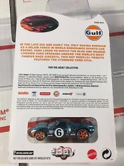 Hot Wheels RLC Gulf Racing Series Ford GT40 MIMC Ships WithProtector (b7)