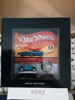 Hot Wheels RLC Original 16 Redline 1968 Package Custom VW Beetle Bug