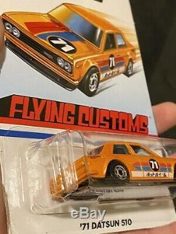 Hot Wheels RLC Real Riders Datsun Bluebird 510 #1427/7000 + Flying Customs 510