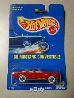 Hot Wheels Rare 1991'65 Mustang Convertible Red