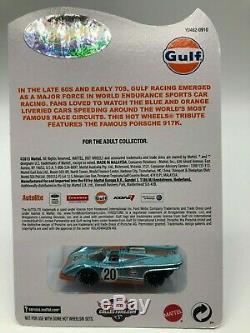 Hot Wheels Real Riders Porsche 917K Gulf Series MIBP