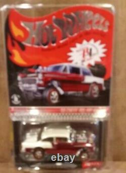 Hot Wheels Red Line Club 2016 Club Car 55 Chevy Bel Air Gasser Red #1351