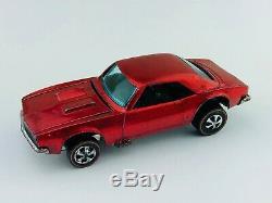 Hot Wheels Redline CUSTOM CAMARO Red HK Dark Int EX/NM TOUGH CAR