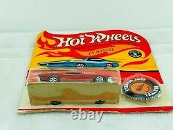 Hot Wheels Redline CUSTOM MUSTANG Red HK White Int Blisterpack BP Carded! WOW