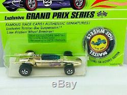 Hot Wheels Redline INDY EAGLE Gold Chrome HK BLISTERPACK Super TOUGH! KILLER