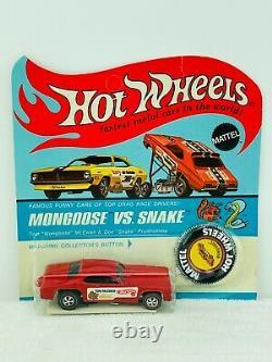 Hot Wheels Redline MONGOOSE Red Enamel US Blisterpack BP Carded MOC WOW