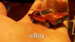 Hot Wheels Redline PROTOTYPE Base Custom Cougar Painted Tooth Orange