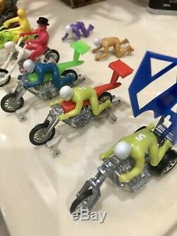 Hot Wheels Redline Rrrumblers Motorcycles Riders Boneshaker Mantis Mail Hotshots
