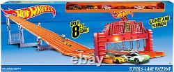 Hot Wheels Super 6 Lane Car Race Track Kids Play Toys Die Cast, Plastic V1983