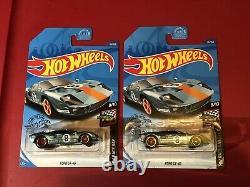 Hot Wheels Super Treasure Hunt Ford Gt 40 Lot Of 2