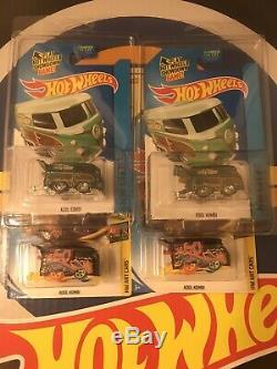 Hot Wheels Super Treasure Hunt Kool Kombi And Regular Treasure Hunt Lot Of 4