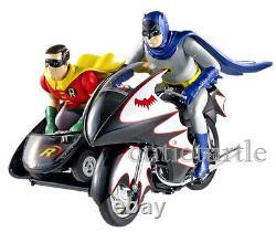 Hot Wheels TV Series Classic 1966 Batcycle w Batman & Robin Figures 112 CMC85