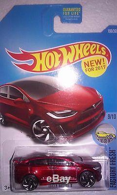 Hot Wheels Treasure Hunt (2) New For 2017 First Editions Fe Tesla X (momc)