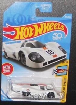 Hot Wheels Treasure Hunt (2) New For 2018 Porsche 917 Lh Gulf (momc)