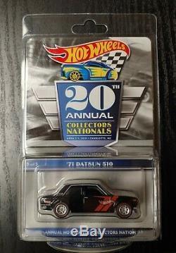 Hot wheels 2020 Collectors Nationals Finale Car'71 DATSUN 510 #2342/5000