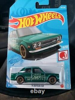 Hot wheels 71 datsun 510 super treasure hunt 2021