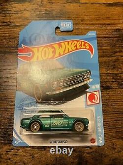 Hot wheels 71 datsun 510 super treasure hunt 2021 vhtf Withprotector