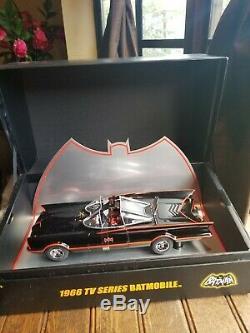 Hotwheels Elite 1966 TV Series Batmobile Diecast 118 With Display Case