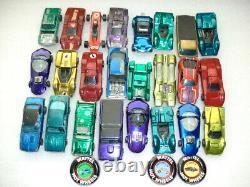 Hotwheels Redline 24 Car Lot + 2/12 Car Rally Case-Camaro/Cuda+Badges