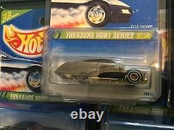 Lot Of (8) Hot Wheels 1995 Treasure Hunts VW Bug, Corvette, Cobra, & More