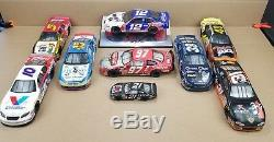 Mixed Lot Of 9 NASCAR Diecast Cars AUTOGRAPHED 124 & 143 Scale Signed READ