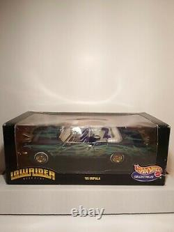 NEW 118 Hot Wheels 1965 65 Impala Die Cast 1999 LowRider Magazine Custom Purple